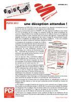 PLFSS 2013 : une déception attendue !