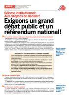 Séisme institutionnel : Aux citoyens de décider!