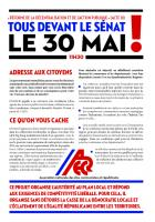 Réforme de la décentralisation et de l 'action publique (acte III) Tous devant le Sénat le 30 mai !