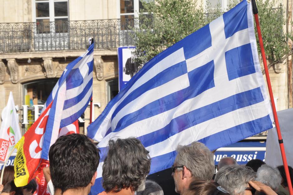 Solidarité avec la Grèce : plus de 200 personnes manifestent à Montpellier contre la troïka.