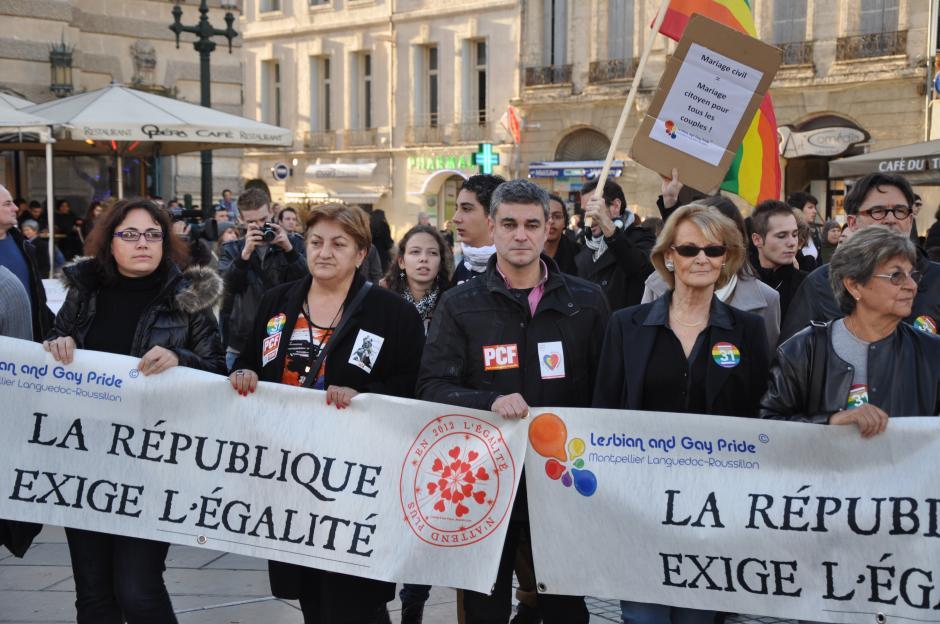 Le PCF 34 et l'ADECR 34 appellent à participer au rassemblement du samedi 16 février en faveur du mariage pour tous.