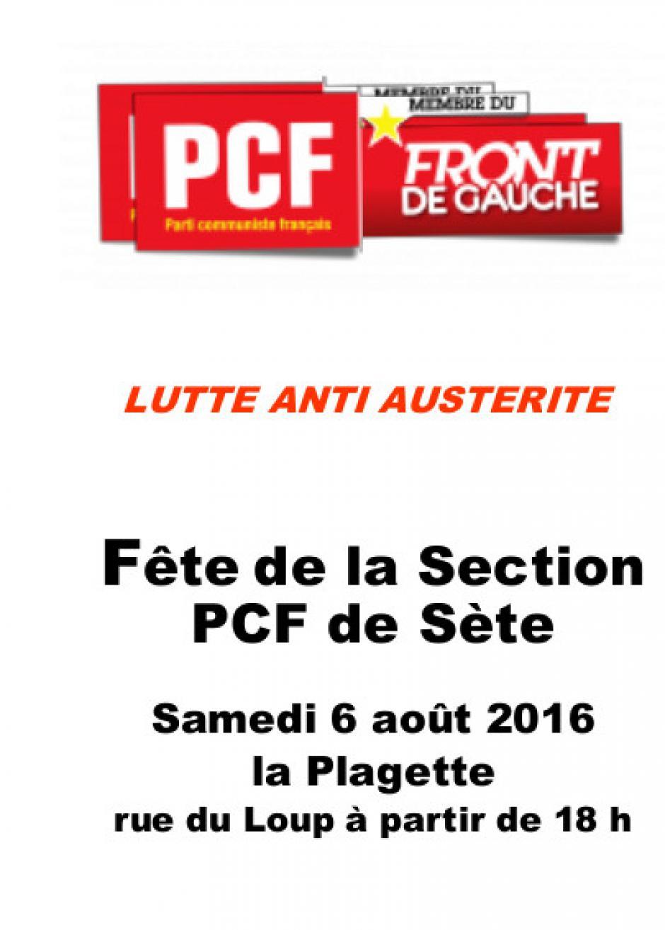 Sète - La plagette : Fête de la section du PCF de Sète