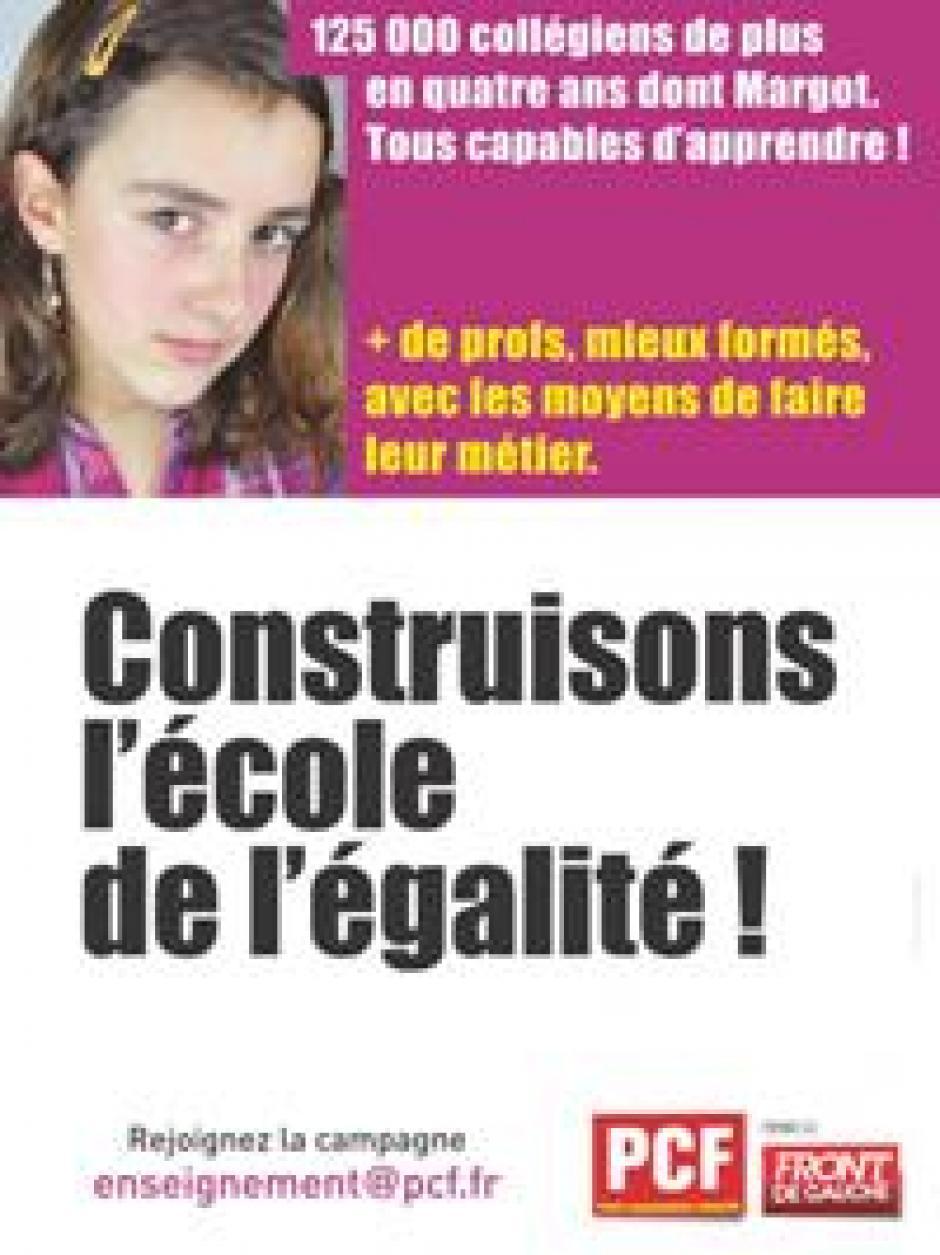 Projet de Loi sur la refondation de l'école : les élus et élues PCF - Front de gauche de Frontignan écrivent à Christian Assaf, député de l'Hérault