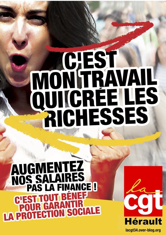 Montpellier - rond point devant la clinique du millénaire : à l'appel de la CGT, rassemblement contre la vie chère