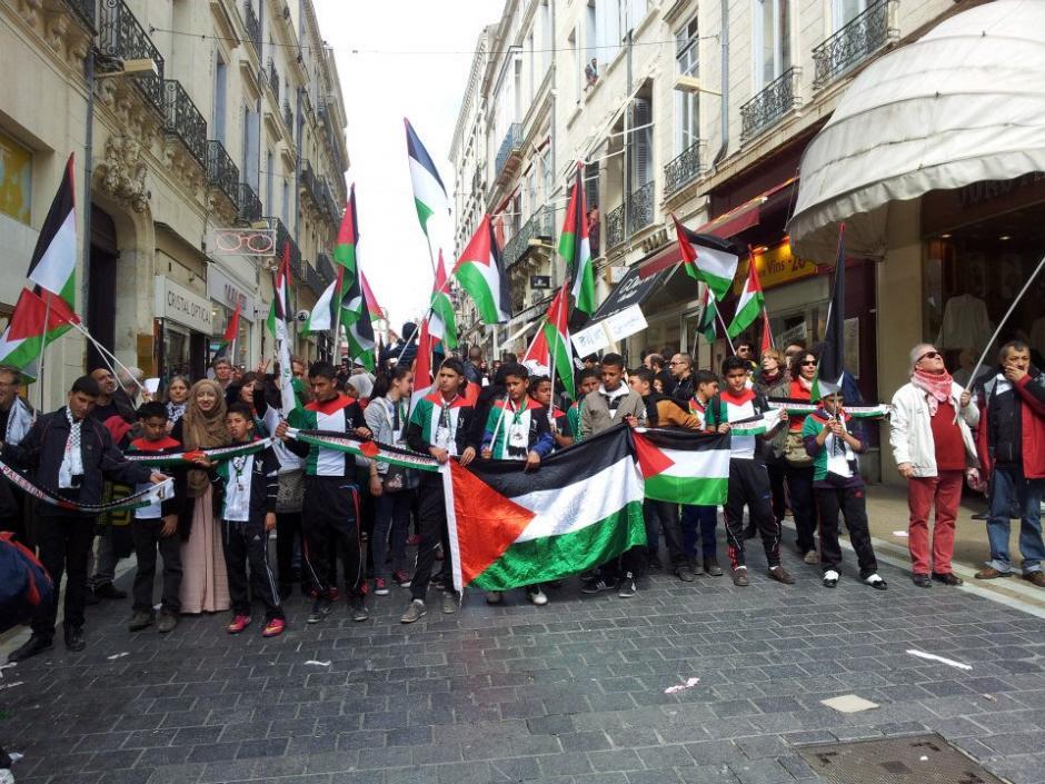 Solidarité avec la Palestine : les images de la venue de l'équipe de foot des moins de 14 ans de Bi'lin à Montpellier.