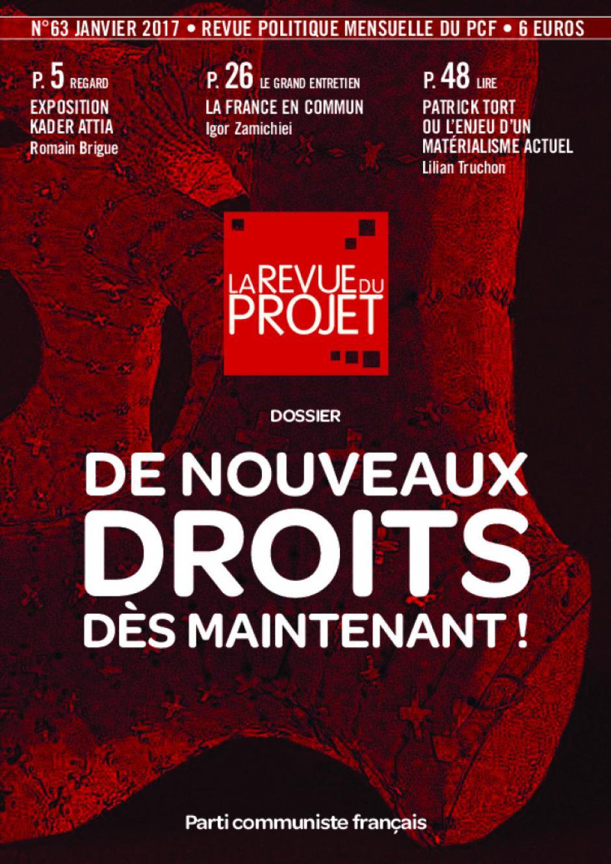 La Revue du projet, n° 63, janvier 2017