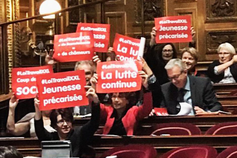 Le groupe CRC devient au Sénat le principal groupe d'opposition de gauche à la politique Macron (PCF)