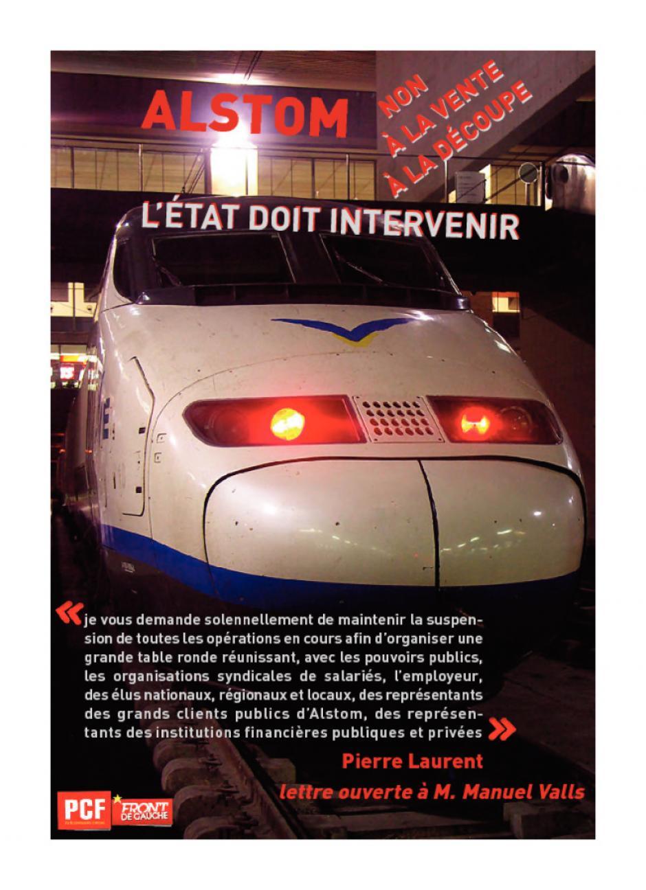 ALSTOM - Lettre ouverte à Manuel Valls