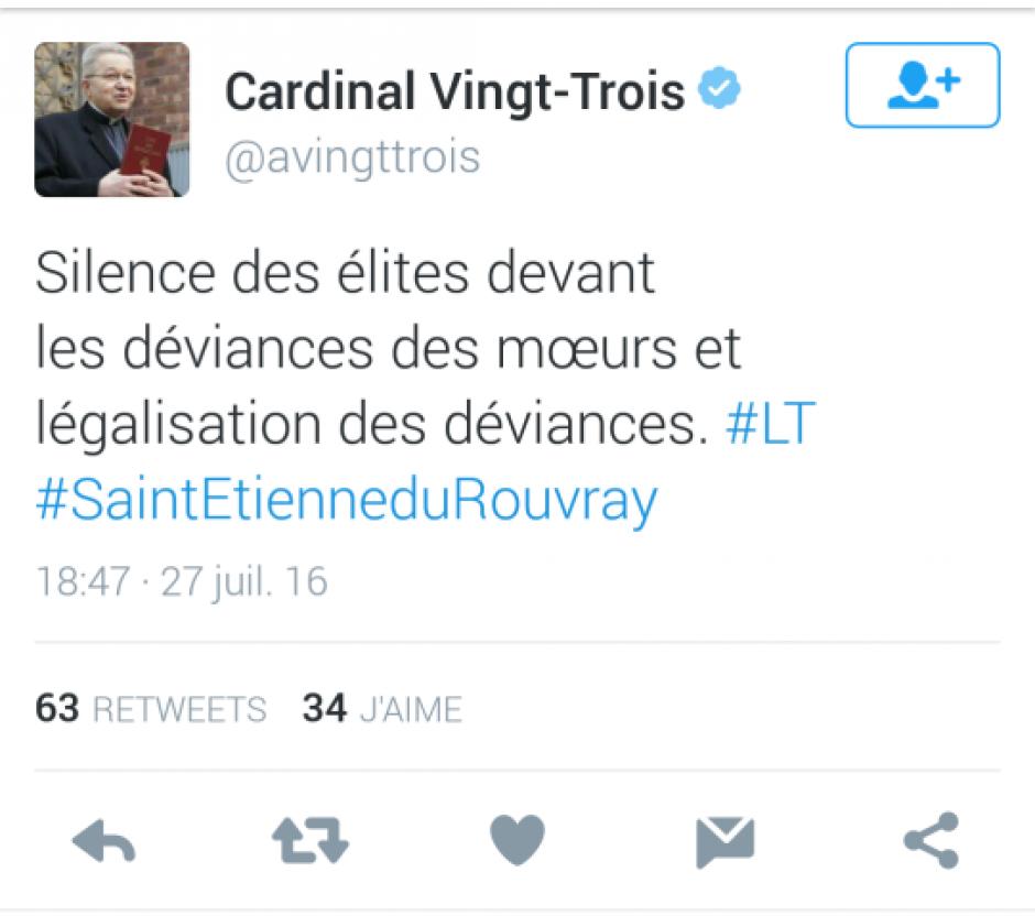 Propos homophobes du cardinal André Vingt-Trois, les cœurs des hommes ne saignent-ils pas assez ? (Olivier DARTIGOLLES)